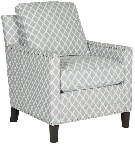 Grey And White Accent Chair Buckler Armchair Accent Chairs Safavieh