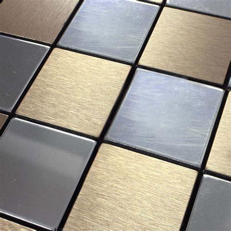 Aluminum Wall Tiles Kitchen by Metal Tile Backsplash Kitchen Stainless Steel Tiles Square