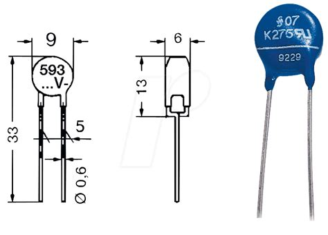 what is vdr resistor vdr 0 6 270 varistor rm 7 5mm 0 6w 275vac jvr14n431k bei reichelt elektronik