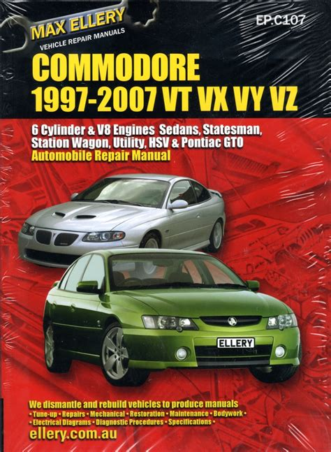 holden commodore vt vx vy vz repair manual 1997 2007