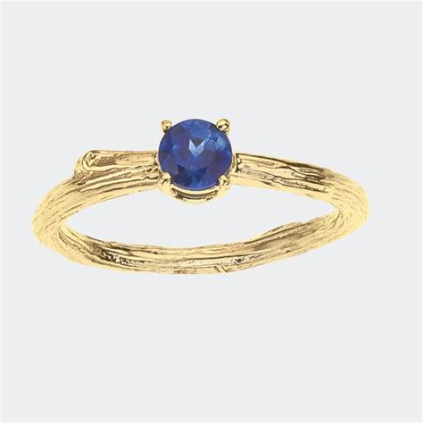 blue sapphire solitaire engagement ring barbara