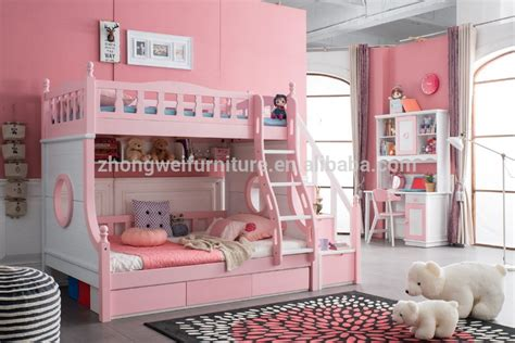 creative bunk beds creative wood double bunk bed for children with hot sale