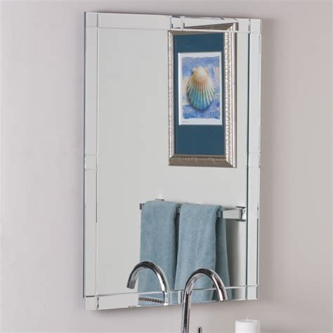 decor wonderland ssm5039s vanity bathroom mirror lowe s canada decor wonderland ssm414 frameless beveled kinana mirror