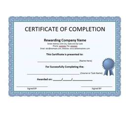 template of certificate of completion 40 fantastic certificate of completion templates word