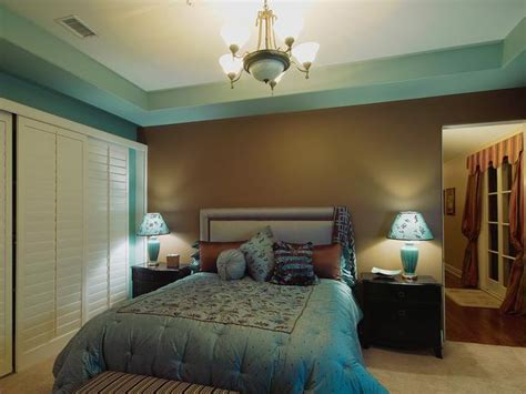elegant blue  chocolate brown bedroom designers portfolio hgtv home garden television