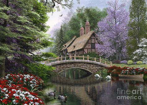 House Plans App river cottage digital art by dominic davison