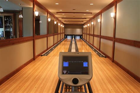 bowling alley installation modern home seattle