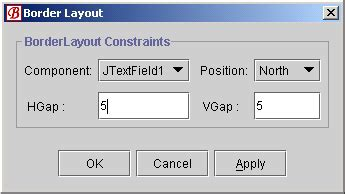 layout manager vertical alignment using border layout