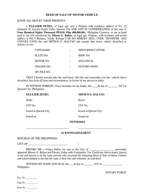 texas vehicle bill of sale word doc military bralicious co