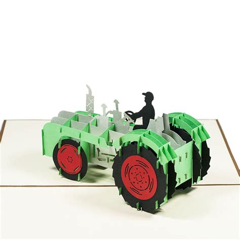 Tractor Origami - tractor pop up card tractor origami card custom designs