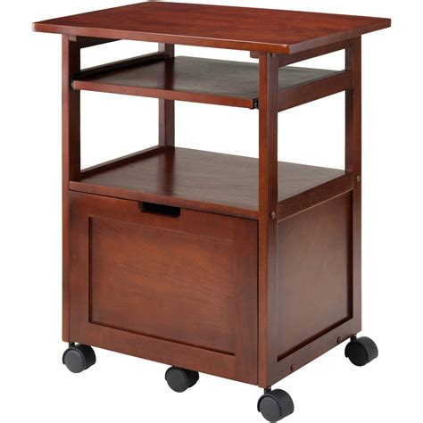 Corner Desks With Shelves Wood Liso Corner Desk With Shelf Espresso Walmart