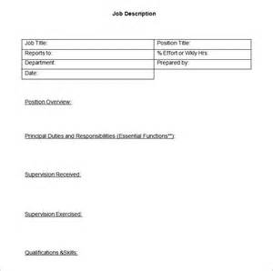 Logistics Description Template by Description Templates Logistics Description