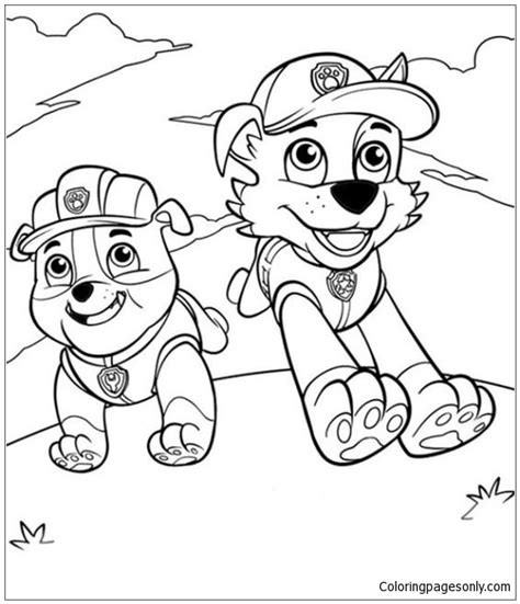 paw patrol winter coloring pages paw patrol 21 coloring page free coloring pages online