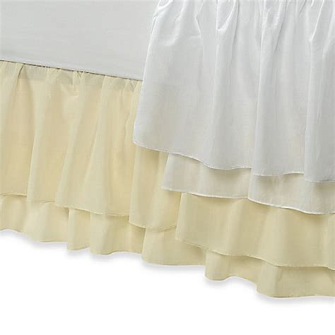 bed skirts bed bath and beyond tiered voile bed skirt bed bath beyond