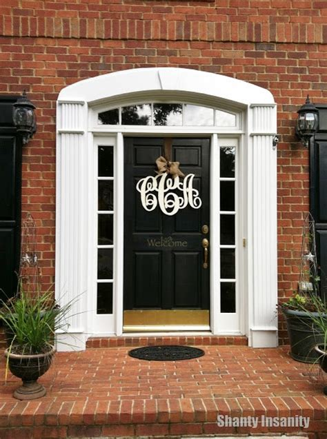 Wood Monogram For Front Door Make Your Own Wooden Monogram Diy For The Home Front Doors Initials And The Black