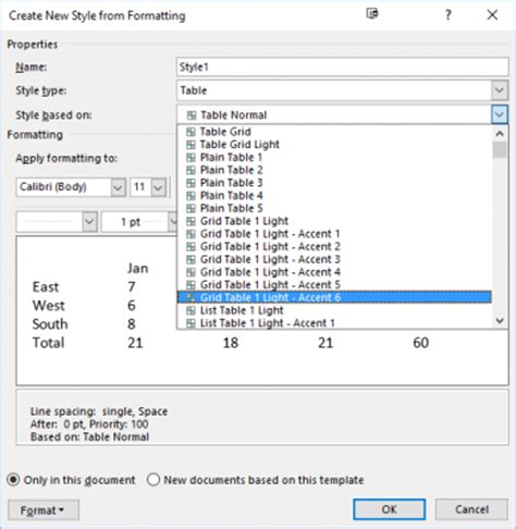 Change Table Style Word How To Create Table Templates In Microsoft Word