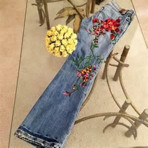 Coach Flower - 60 off odyn denim odyn hand embroidered flower