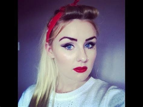 zombie hair tutorial pin up 50 s inspired makeup and hair tutorial youtube
