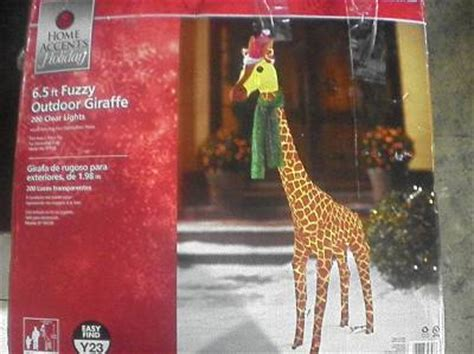 6 5 ft tinsel lighted holiday fuzzy plush giraffe