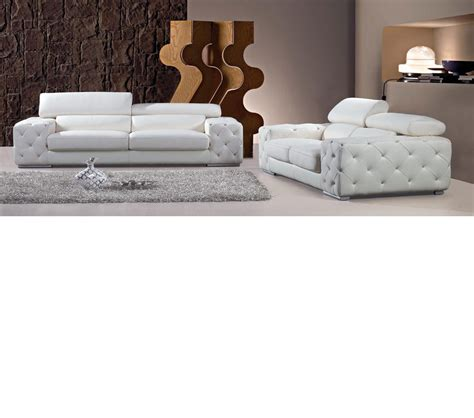 dreamfurniture modern tufted leather sofa set with