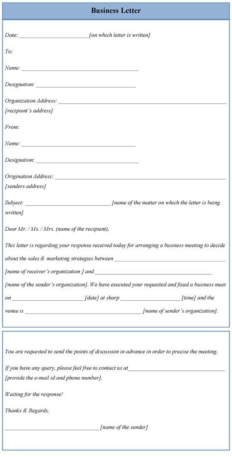 letter template business sample business letter