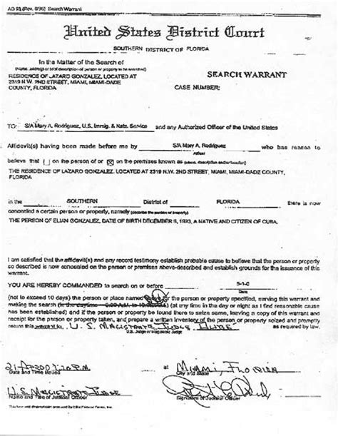 Search Warrants In Florida Cnn Related Documents In The Elian Gonzalez