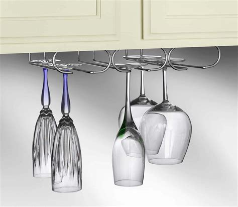 under cabinet wine glass rack under counter wine rack with stemware holder under