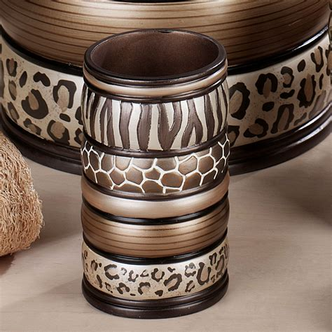 Safari Bathroom Accessories Safari Stripes Animal Print Bath Accessories