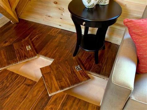 how to make hideaway storage compartments in the floor
