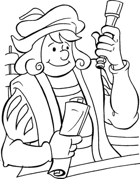 Free Coloring Pages Of Christopher Columbus Printable Imagenes De Columbus Day For Coloring