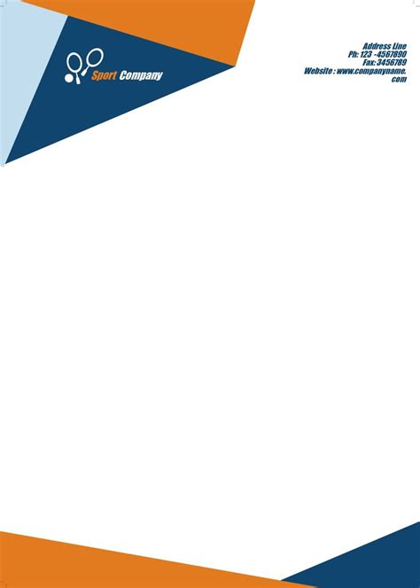 Business Letterhead letterheads this is a clean letterhead the blue and