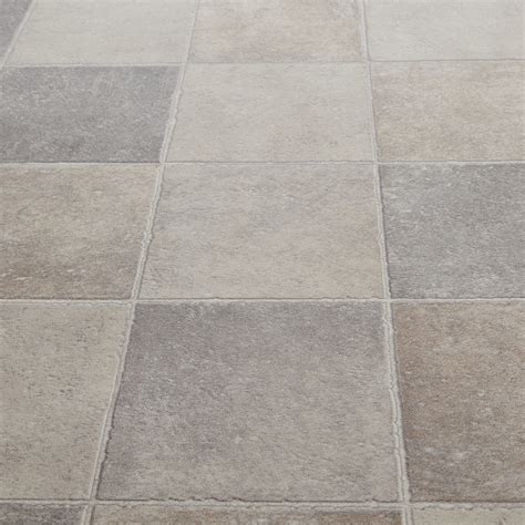 Lino Floor Covering 10 39 Floorgrip 592 Pompei Tile Effect Vinyl Flooring Floor Covering