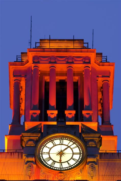 Ut Mba Clubs by The Tower Is Bathed In Solid Orange For Significant Events