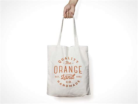 Canvas Tote Bag PSD Mockup With Carry Handle   PSD Mockups