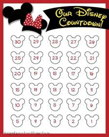 Printable Countdown Calendar Template by Search Results For Free Printable Disney Countdown