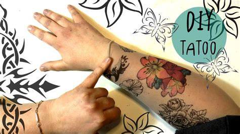 how to make a fake tattoo look real amazing diy with sharpies and copic markers