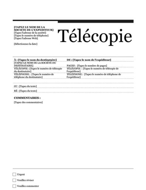 Modele De Telecopie Faxe Gratuit