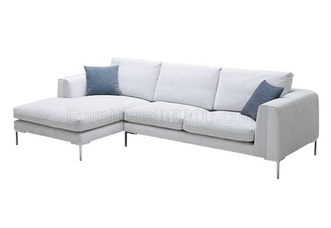 white fabric sofa sectional sofa in white premium fabric by j m