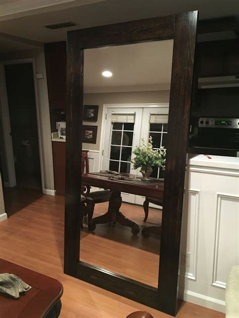 Diy Large Standing Floor Mirror From Scrap Wood And Old Cost Of Mirrored Closet Doors