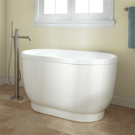 freestanding acrylic bathtub 55 quot abescon acrylic freestanding tub acrylic tubs