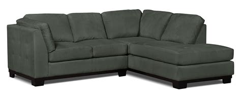 grey microsuede sectional oakdale 2 piece microsuede right facing sectional grey