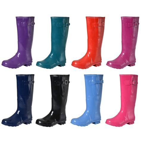 wellies boots coloured gloss wellington boots fashion