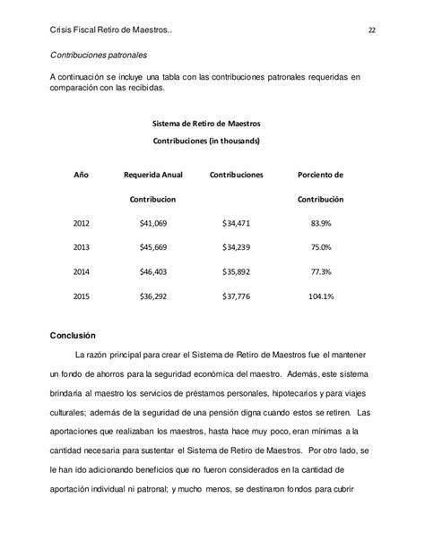 tabla de contribuciones puerto rico crisis del sistema de retiro de maestros de puerto rico