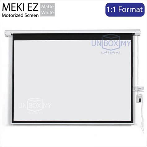 Motorized Screen Proyektor 213x213cm meki ez motorized projection screen 1 1 unbox my