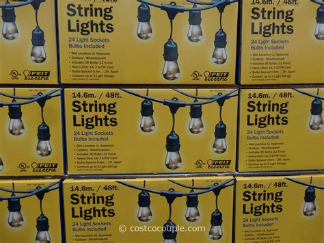 feit electric string lights outdoor post lighting electric sockets power extension