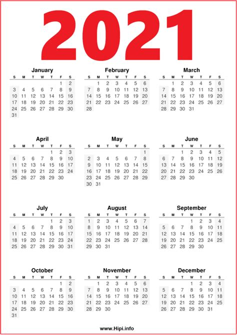 month  calendar printable red blue hipiinfo