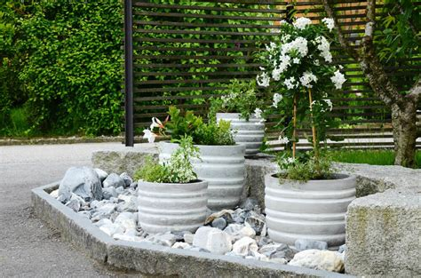 Rock Garden With Potted Plants with 35 Patio Potted Plant And Flower Ideas Creative And Lovely Photos