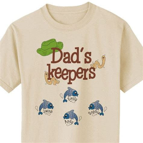 Custom His And Shirts S Keepers Personalized Fishing Fathers Day T Shirts A