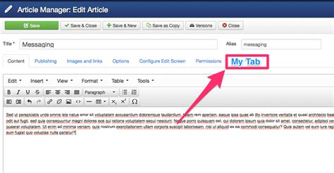 joomla tutorial article manager php joomla 3 add new tab to article manager stack overflow