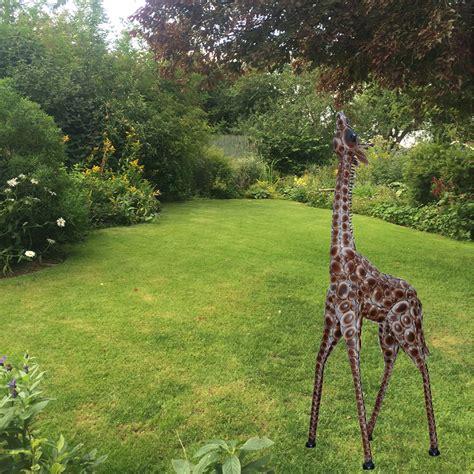 garden decoration metal garden giraffe sculpture garden ftempo